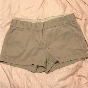 J. Crew women's chino shorts in khaki
